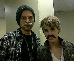 justin bieber, mustache, and ryan good image