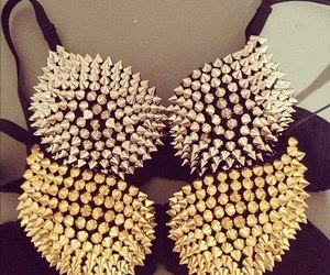 fashion, bra, and gold image