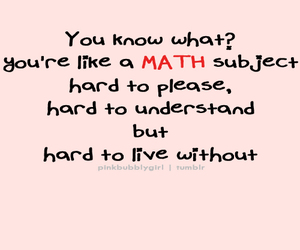 math, pink, and typography image