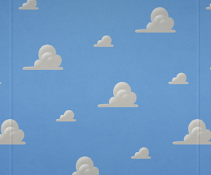 wallpaper, toy story, and clouds image