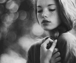 beauty, black and white, and long image