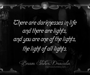 quote, Dracula, and light image