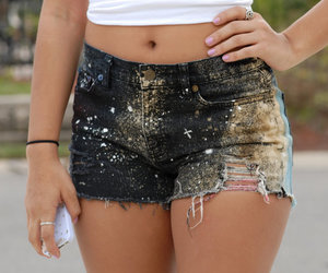 destroyed, shorts, and stars image