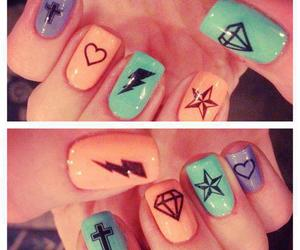 nails, diamond, and stars image
