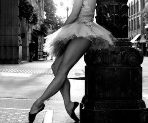 ballerina, dancer, and girl alone image