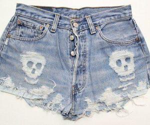 denim, skull, and fashion image