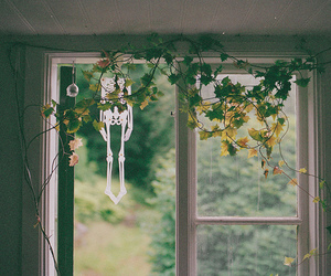 window, vintage, and green image