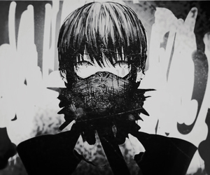 anime, black and white, and art image