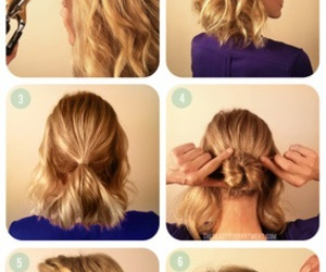trenza, cabello, and style hair image