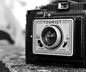 black and white, camera, and cool image