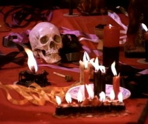 candles, macabre, and occult image