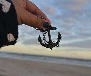 anchor, beach, and photography image