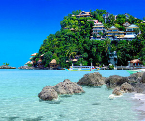 beach, sea, and Philippines image