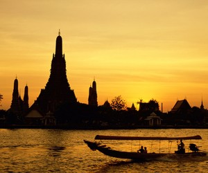 thailand, bangkok, and sunset image