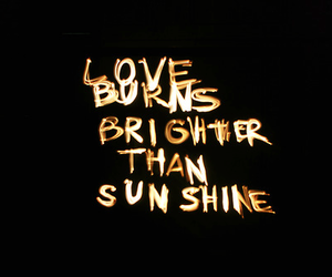 love, sunshine, and black image