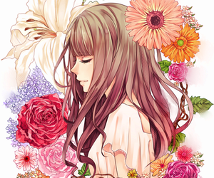 flowers, anime, and art image