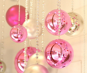 pink and christmas image