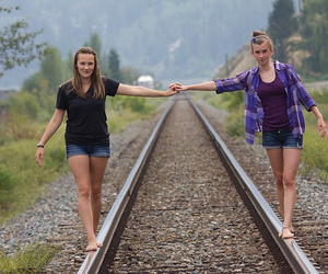 day, girls, and walking image