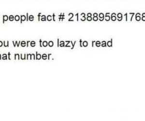 fact, Lazy, and funny image
