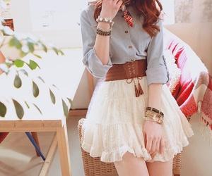 skirt, kfashion, and ulzzang image