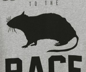 t shirt and rat race image