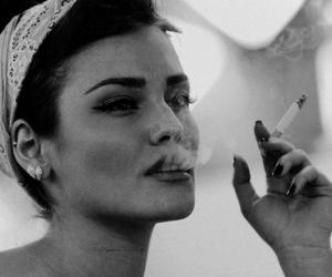 girl, cigarette, and vintage image