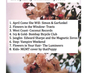 april, playlist, and songs image