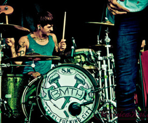 bmth, drums, and bring me the horizon image