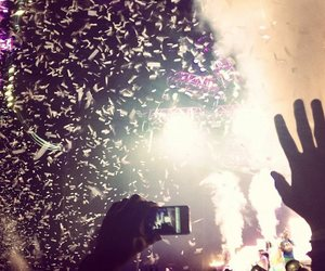concert, confetti, and happiness image