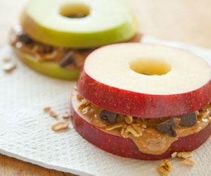butter, apple, and bagel image