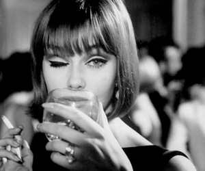 vintage, cigarette, and drink image