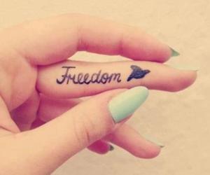 bird, tattoo, and freedom image
