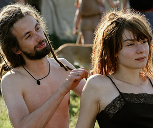 couple, hippie, and hippies image