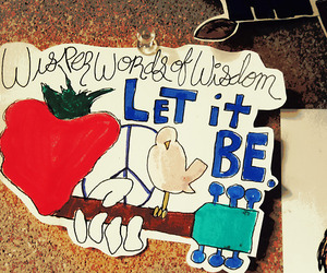 let it be, guitar, and Lyrics image