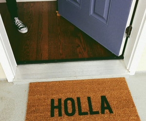 Holla, welcome, and door image