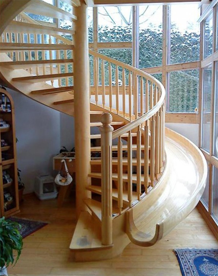 stairs and slide image
