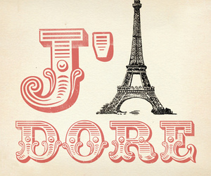paris, j'adore, and france image