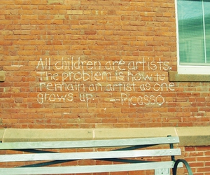 art, children, and picasso image