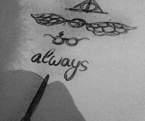 always, drawing, and harry potter image