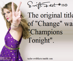 change, Taylor Swift, and songs image