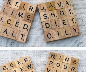 diy, scrabble, and coasters image