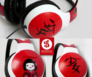 headphone and japan image