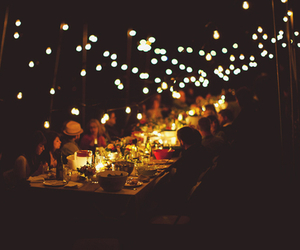dinner, lights, and photography image