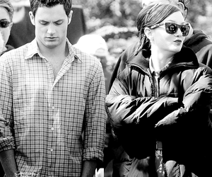 b&w, Penn Badgley, and set image