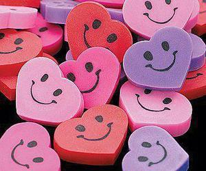 smile, happy, and heart image