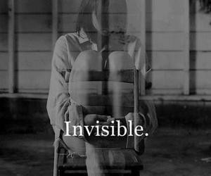 invisible, sad, and alone image