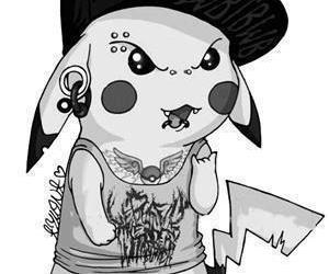pikachu, pokemon, and piercing image