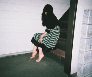 Film Photography, stairs, and girl image