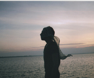 Film Photography, ocean, and shadow image