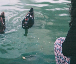 duck, Film Photography, and girl image